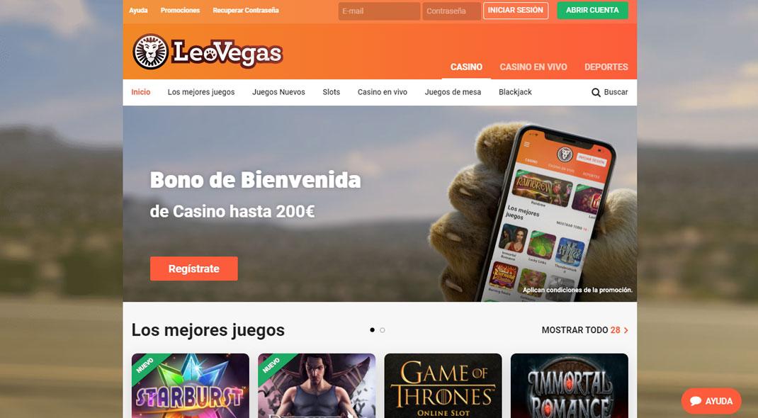 LeoVegas Casino Reseña